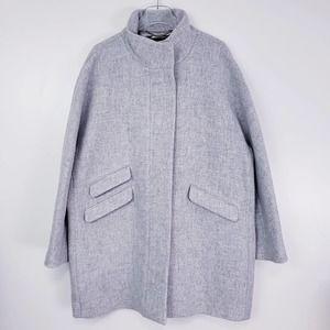 J.Crew Cocoon Coat Italian Stadium-Cloth Wool 3X